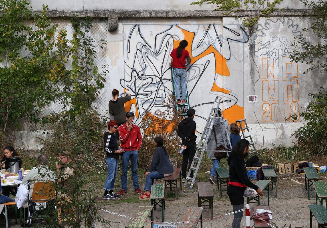 [wa:|wa:] Festival 2018 – collaborative wall-painting