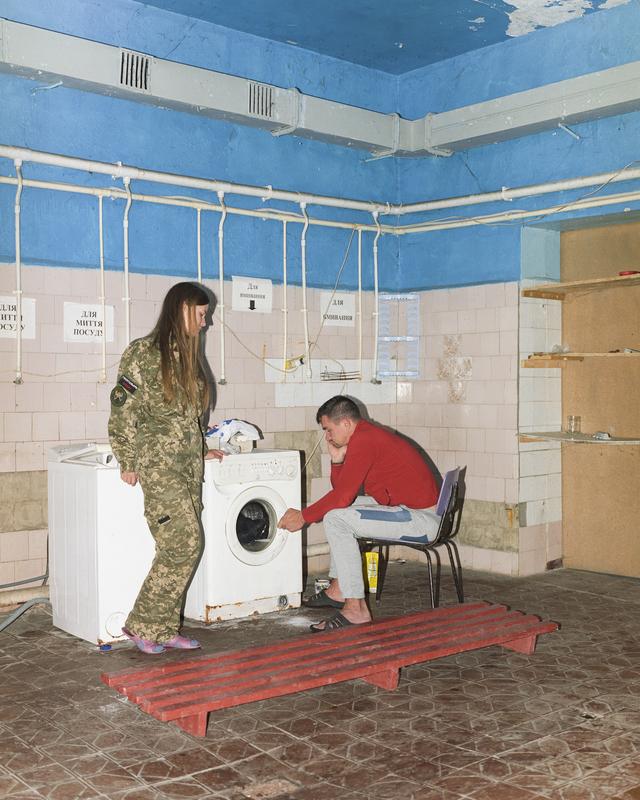 Pravyi Sektor Base, Donetsk Oblast, October 2017 from the series Life goes on, 2019